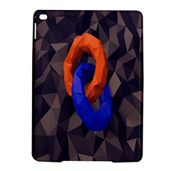 Low Poly Figures Circles Surface Orange Blue Grey Triangle Ipad Air 2 Hardshell Cases