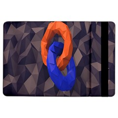 Low Poly Figures Circles Surface Orange Blue Grey Triangle Ipad Air 2 Flip