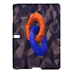 Low Poly Figures Circles Surface Orange Blue Grey Triangle Samsung Galaxy Tab S (10 5 ) Hardshell Case