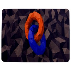Low Poly Figures Circles Surface Orange Blue Grey Triangle Jigsaw Puzzle Photo Stand (rectangular)