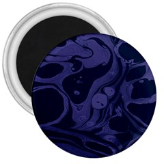 Marble Blue Marbles 3  Magnets