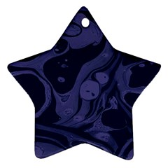 Marble Blue Marbles Ornament (star)