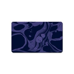 Marble Blue Marbles Magnet (name Card)
