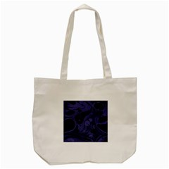 Marble Blue Marbles Tote Bag (cream)