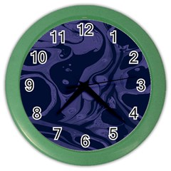 Marble Blue Marbles Color Wall Clocks