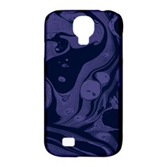 Marble Blue Marbles Samsung Galaxy S4 Classic Hardshell Case (pc+silicone)