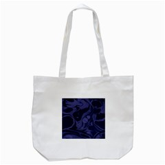Marble Blue Marbles Tote Bag (white)