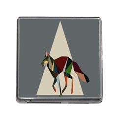 Nature Animals Artwork Geometry Triangle Grey Gray Memory Card Reader (Square)