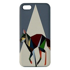 Nature Animals Artwork Geometry Triangle Grey Gray Apple Iphone 5 Premium Hardshell Case