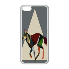 Nature Animals Artwork Geometry Triangle Grey Gray Apple Iphone 5c Seamless Case (white)