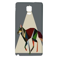 Nature Animals Artwork Geometry Triangle Grey Gray Galaxy Note 4 Back Case
