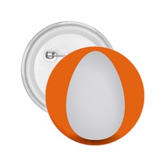 Orange White Egg Easter 2 25  Buttons