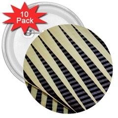 Line Chevron Triangle Grey 3  Buttons (10 Pack)