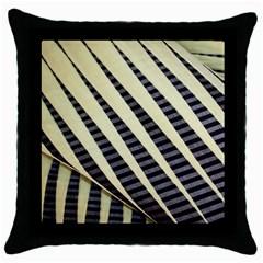 Line Chevron Triangle Grey Throw Pillow Case (black)