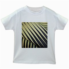 Line Chevron Triangle Grey Kids White T Shirts