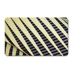 Line Chevron Triangle Grey Magnet (rectangular)
