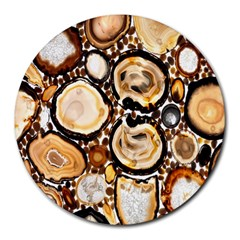 Natural Agate Mosaic Round Mousepads