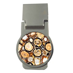 Natural Agate Mosaic Money Clips (round)