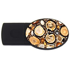 Natural Agate Mosaic Usb Flash Drive Oval (2 Gb)