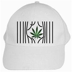 Marijuana Jail Leaf Green Black White Cap