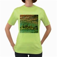 Auckland Travel Women s Green T-Shirt