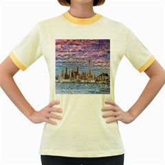 Auckland Travel Women s Fitted Ringer T Shirts