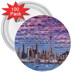 Auckland Travel 3  Buttons (100 pack)