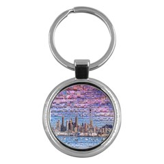 Auckland Travel Key Chains (round)