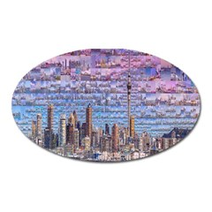 Auckland Travel Oval Magnet