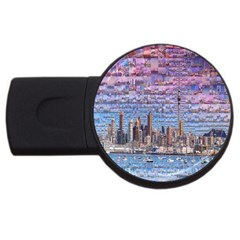Auckland Travel Usb Flash Drive Round (2 Gb)