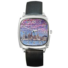 Auckland Travel Square Metal Watch