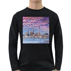 Auckland Travel Long Sleeve Dark T-Shirts