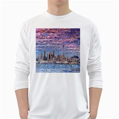 Auckland Travel White Long Sleeve T-Shirts