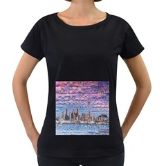 Auckland Travel Women s Loose Fit T Shirt (black)