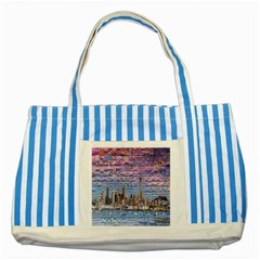 Auckland Travel Striped Blue Tote Bag