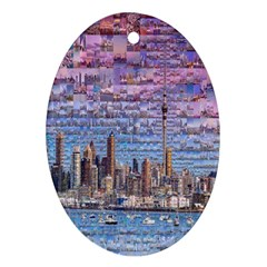 Auckland Travel Oval Ornament (Two Sides)