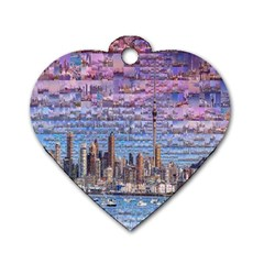 Auckland Travel Dog Tag Heart (Two Sides)