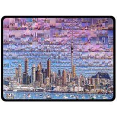 Auckland Travel Double Sided Fleece Blanket (Large)