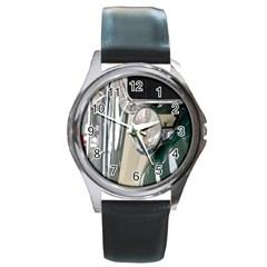 Auto Automotive Classic Spotlight Round Metal Watch