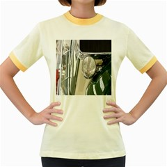Auto Automotive Classic Spotlight Women s Fitted Ringer T-Shirts