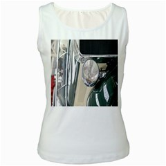 Auto Automotive Classic Spotlight Women s White Tank Top