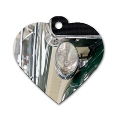 Auto Automotive Classic Spotlight Dog Tag Heart (One Side)