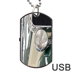 Auto Automotive Classic Spotlight Dog Tag USB Flash (Two Sides)