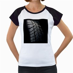 Auto Black Black And White Car Women s Cap Sleeve T