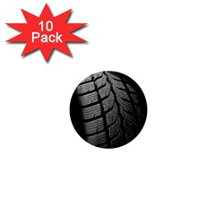 Auto Black Black And White Car 1  Mini Buttons (10 pack)