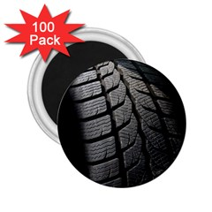Auto Black Black And White Car 2.25  Magnets (100 pack)