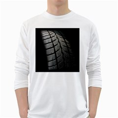 Auto Black Black And White Car White Long Sleeve T-Shirts