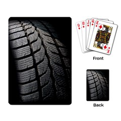 Auto Black Black And White Car Playing Card