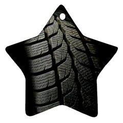 Auto Black Black And White Car Star Ornament (two Sides)
