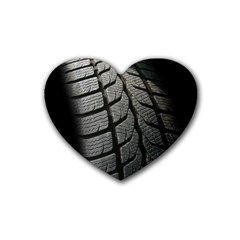 Auto Black Black And White Car Heart Coaster (4 pack)